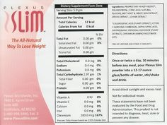 Plexus Pink | Plexus Slim Pink Drink Ingredients Plexus Slim, all #natural #weightloss!  Www.plexusslim.com/PaulaMaxwell