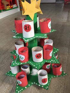Animal Crafts For Kids, Winter Crafts For Kids, Easy Christmas Crafts, Simple Christmas, Kids Christmas, Christmas Tree Festival, Reindeer Craft, Christmas Program, Diy Advent Calendar