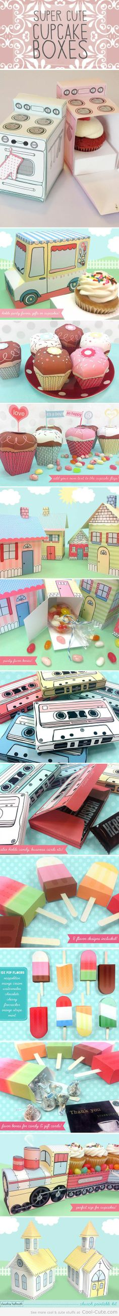 Super cute cupcake boxes. Are these not the cutest boxes? Love them.
