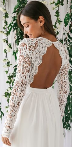 Awaken My Love White Long Sleeve Lace Maxi Dress - Vestidos - Hochzeitskleid Perfect Wedding Dress, Stunning Wedding Dresses, Dream Wedding Dresses, Wedding Dress Styles, Bridal Dresses, Wedding Gowns, Dream Prom, Wedding Ceremony, Civil Wedding