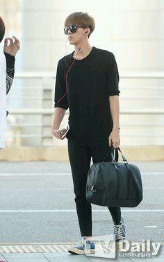 140704- EXO Oh Sehun @ Incheon Airport to Chengdu Airport #exok #fashion #mens