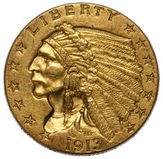 Lot 36: 1913 $2 1/2 Gold XF;
