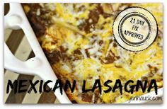 Mexican Lasagna  Ingredients 1 Red and Orange Bell Pepper 1 Medium Yellow Onion 1 lb Lean Ground Turkey (you can use extra lean ground chicken or even venison) 1/4 cup Southwest Seasoning (recipe ...