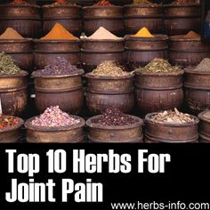 ❤ Top 10 Herbs For Joint Pain ❤