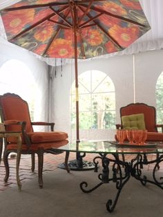Emily's Umbrellas and Bella Villa Vintage rentals take it outdoors for special events