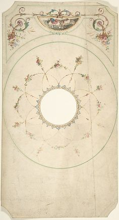 Attributed to J. S. Pearse | Ceiling Design with Center Cut Out | The Met