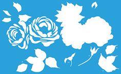 Stencil Flores tipo 3