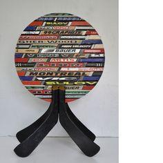 Trophy - made of used hockey sticks Hockey Sticks, Decorative Objects, Symbols, Art, Craft Art, Ice Hockey Sticks, Icons, Kunst, Field Hockey Sticks