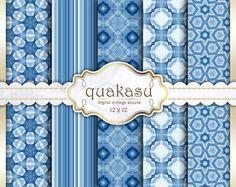 Blue Papers - Digital Paper Pack Digital Paper Scrapbook Paper Digital Collage Sheet Blue Background