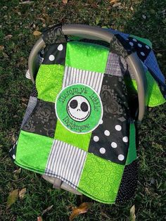 Disney Nightmare Before Christmas - Jack Skellington Baby Infant Car Seat Cover / Nursing Cape / Blanket w/ pocket! Christmas Baby Shower, Baby Boy Christmas, Jack Skellington, Baby Shower Gifts, Baby Gifts, Baby Halloween, Halloween Witches, Halloween Stuff, Rainbow Baby