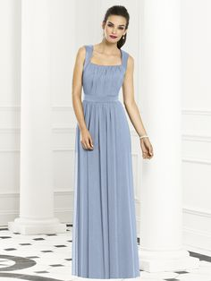 cloudy blue pastel bridesmaid dress