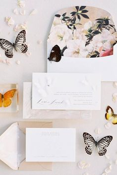 This butterfly inspired invitation suite is making our hearts flutter. 🦋 When piecing together your flatlay design, don't be afraid to trade in florals or greenery for something less expected, like these winged friends! 💛   Photography: @marniwishartphotography #stylemepretty #butterfly #butterflywedding #weddinginvitations #weddinginspiration Wedding Shoes, Wedding Bouquets, Wedding Bands, Summer Wedding, Wedding Day, Butterfly Wedding, Invitation Suite, Wedding Invitations, Stationery