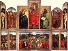 RETABLE DE L AGNEAU MYSTIQUE - 1432 #vaneyck #art #maitre #master #painting #peinture #agneau #mystique #belgique #cathedrale #gant #stbavon #flamand #1432 #belgium