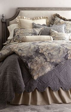 Shop Monterey Bedding from Amity Home at Horchow, where you'll find new lower shipping on hundreds of home furnishings and gifts. Shabby Chic Bedrooms, Trendy Bedroom, Girl Bedrooms, Bed Linen Design, Bed Design, French Country Bedding, Amity Home, Luxury Bedding Sets, Cool Beds