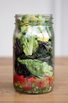 Mason jar salads for on the road?