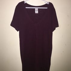 maroon pink brand shirt no rips, or tears. perfect condition. PINK Victoria's Secret Tops Tees - Short Sleeve
