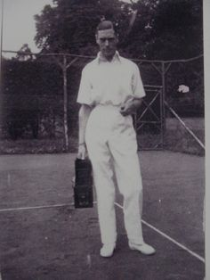 Anyone for tennis? The Duke of York relaxes at Polesden Lacey in Lady Elizabeth, Princess Elizabeth, Princess Margaret, George Duke, King George, Queen Mother, Queen Mary, Margaret Rose, Wallis Simpson