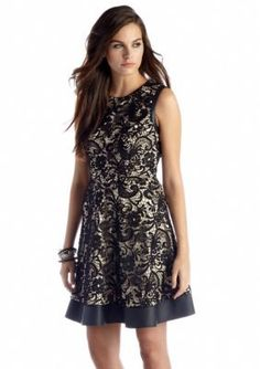 Jessica Simpson  Sleeveless Fit and Flare Lace Dress