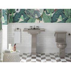 KOHLER Tresham Pedestal Combo Bathroom Sink with 8 in. Centers in Cashmere - K-2845-8-K4 - The Home Depot