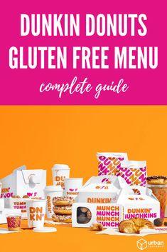 Dunkin Donuts Gluten Free - List and Guide (Updated - Urban Tastebud Gluten Free Fast Food, Gluten Free Donuts, Gluten Free Menu, Free Food, Dairy Free, Dunkin Donuts Recipe, Dunkin Donuts Coffee, Donut Flavors, Frozen Hot Chocolate