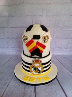 First attempt at a football cake not as challenging as I thought but as with every cake you learn something different xxxx