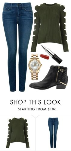 """Street Style"" by mari-marishka ❤ liked on Polyvore featuring ZoÃ« Jordan, NYDJ, Sam Edelman, Rolex and Marc Jacobs"