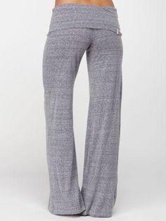 I WANT!! Slub Yoga Pant! These look so comfortable @ http://www.FitnessGirlApparel.com