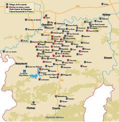 Carte des Marches de l'entre-Sambre-et-Meuse
