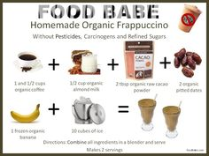 Ingredients for my Organic Homemade Starbucks Frappuccino on http://foodbabe.com