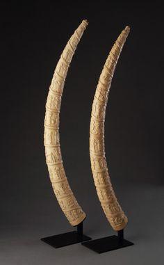 Pair of African Loango Coast, Angola Ivory Tusks