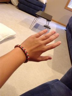My crazy loom bracelet that someone gave me!