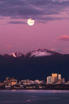 Harvest Moon by (Through The Lens Alaska)