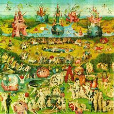 Garden Of Earthly Delights BLOTTER ART - perforated acid art paper - Kesey Leary Hofmann Owsley Grateful Dead psychedelic lsd sheet tabs