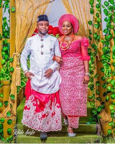 Akwa Ibom bride and groom attire Traditional Wedding Attire, African Traditional Wedding, Traditional Fashion, African Lace Styles, Bae Goals, Fashion Design Sketches, Groom Attire, Cute Photos, African Dress
