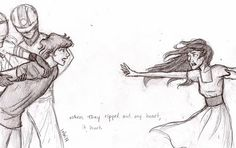 Black and Blue by on deviantART- Finnick and Annie Story Inspiration, Writing Inspiration, Character Inspiration, Drawing Tips, Drawing Reference, Storyboard, Burdge, Story Characters, Hunger Games