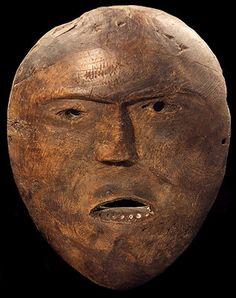 Human face mask, c 1840-1870
