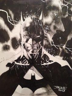 Batman sketch by the legendary Jim Lee Comic Book Artists, Comic Book Characters, Comic Artist, Comic Books Art, Superhero Characters, Jim Lee Batman, I Am Batman, Batman Drawing, Batman Artwork