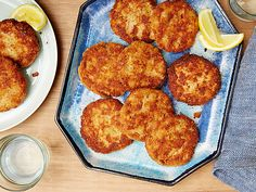 Salmon Cakes Recipe : Ina Garten : Food Network. Use cooked salmon from deli counter.