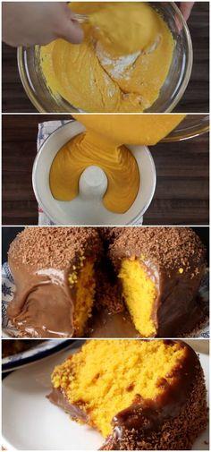Bolo de cenoura vulcão #bolo #cenoura #chocolate #receita #gastronomia #culinaria #comida #delicia #receitafacil
