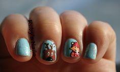 Elf and Reindeer nails