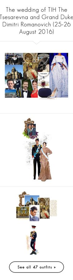 """The wedding of TIH The Tsesarevna and Grand Duke Dimitri Romanovich (25-26 August 2016)"" by emprbr ❤ liked on Polyvore featuring Jeffrey Levinson, Manolo Blahnik, PATH, qmwilldie, howabdsurd, jameva, Blue Nile, Vanity Fair, TIARA and Oscar de la Renta"