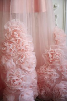 me ~ Tulle skirt blush Sheer skirt rose Floral maxi skirt Flower applique Wedding skirt Organza Flowers, Fabric Flowers, Peony Flower, Flower Skirt, Diy Lace Trim, Peach Skirt, Ball Skirt, 3d Rose, Wedding Skirt