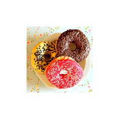 Donuts icon-by Chinky ❤ liked on Polyvore featuring food, sweets, icons, pictures and photos