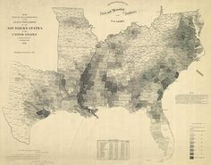 Map Of The Last U S Slave Census 1860 Sociological Images