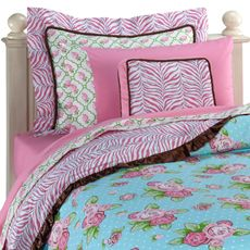 Caden Lane Boutique Girl Duvet Cover and Accessories - $179.99 - I like the Duvet but not the rest