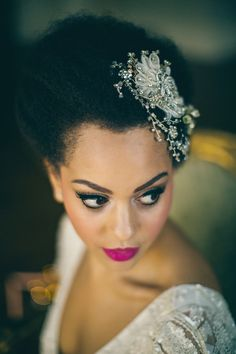 Eyeliner Pink Lips Bridal Makeup