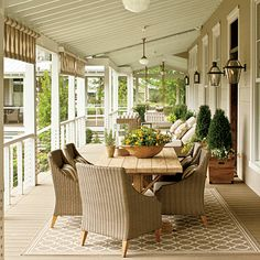 Because porches are the first places visible in the house, they should have a good scale and feel to them. A lot of areas on the porches act as great spaces for entertaining and setting up.