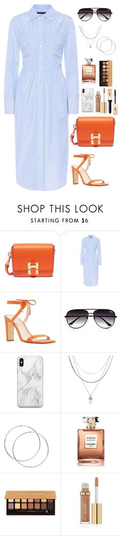 """""""Great things take time"""" by chase-stars ❤ liked on Polyvore featuring Sophie Hulme, AlexaChung, Nine West, Quay, Recover, Chanel, Anastasia Beverly Hills and Yves Saint Laurent"""
