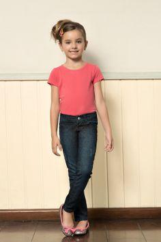 M2A Jeans | Fall Winter 2014 | Kids Collection | Outono Inverno 2014 | Coleção Infantil | peças | blusa rosa infantil; calça jeans infantil; jeans; denim.