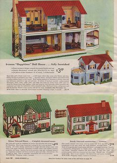 Vintage barbie dollhouse